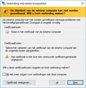 Credssp Foutmelding Bij Gebruik Van Extern Bureaublad More4it